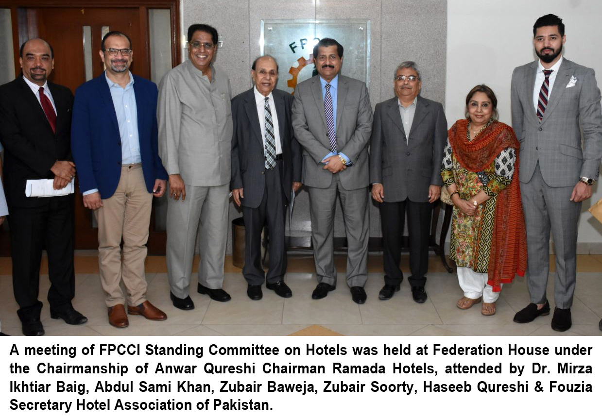 FPCCI Standing Committee on Hotels 2018 Meeting