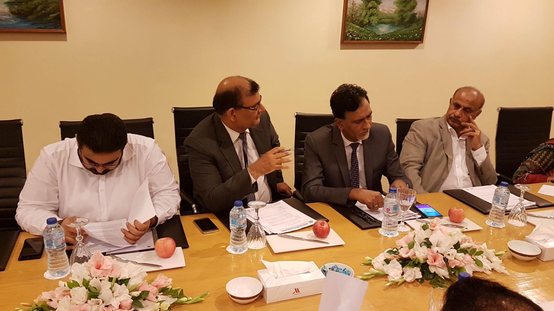 PHA Executive Committee Meeting held on August 02, 2019 at Karachi Marriott Hotel