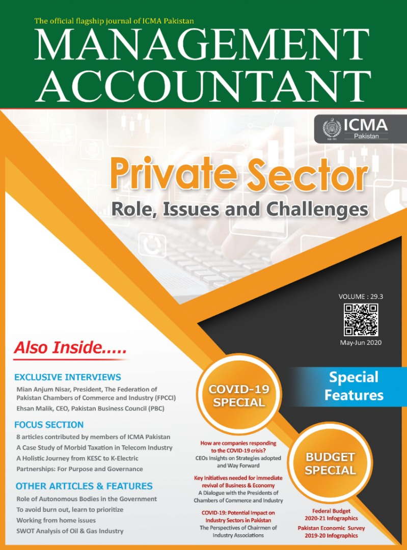 ICMA Pakistan Journal on Private Sector Role, Issues and Challenges to the COVID-19 crises
